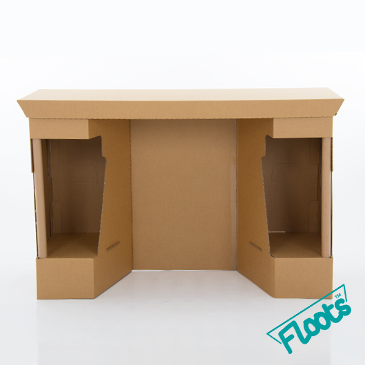 Floots Brown Cardboard Desk