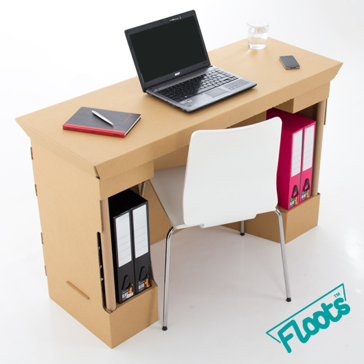 Brown Corrugated Cardboard Desk from Floots