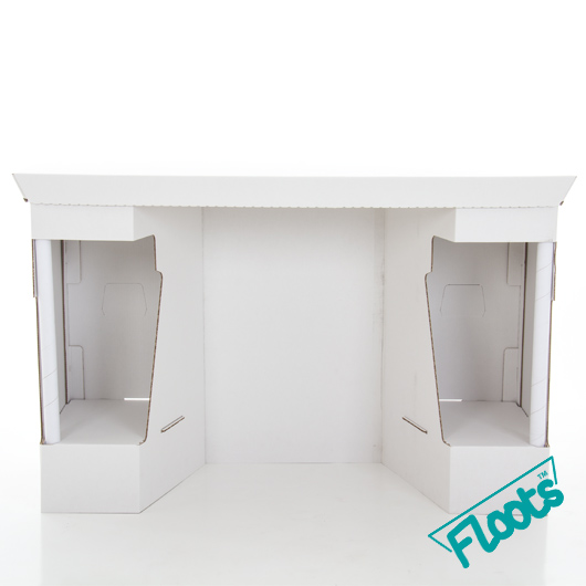 Cardboard Floots Desk White