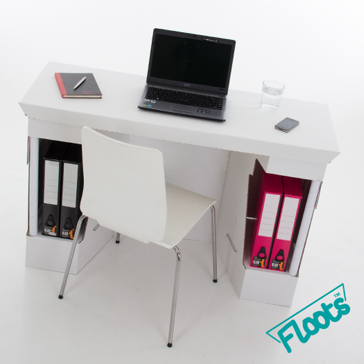 Cardboard Furniture from Floots White Cardboard Desk
