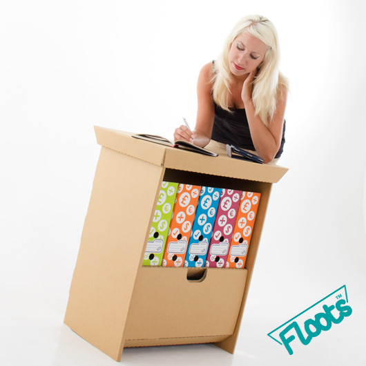 Versatile Cardboard Furniture from Floots.