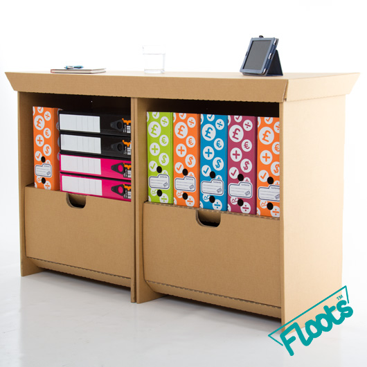 Floots Double Pack cardboard drawer units.