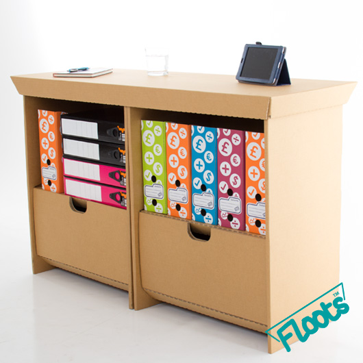 Twin Pack Cardboard Small Drawer Units