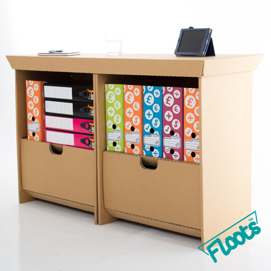 Value Double Pack - Small Cardboard Drawer Units from Floots