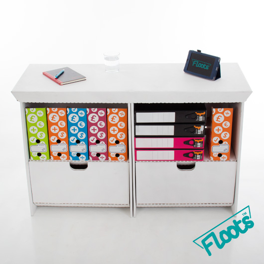 Floots Small Drawer Unit Double Pack White