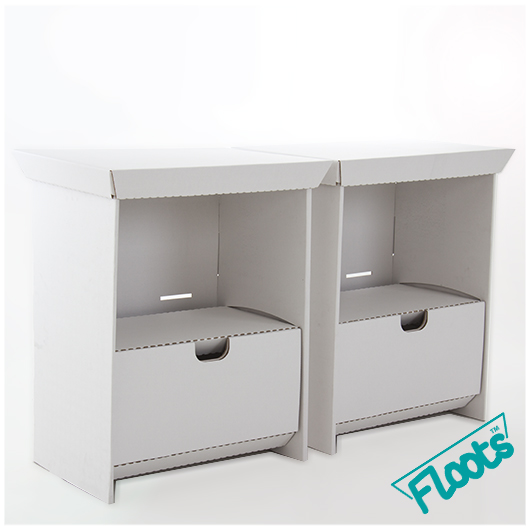 Floots Double Pack Small Drawer Unit White