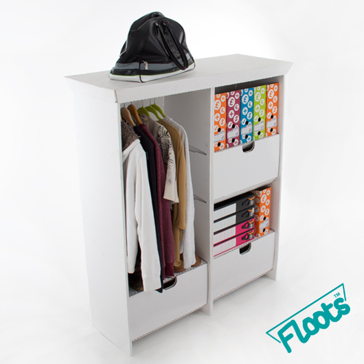 Wardrobe Tall Drawer Unit Combo White