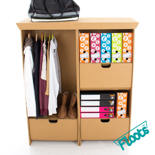 Brown Multi pack containing Wardrobe and Tall Drawer Unit
