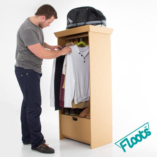 Brown Cardboard Wardrobe from Floots.