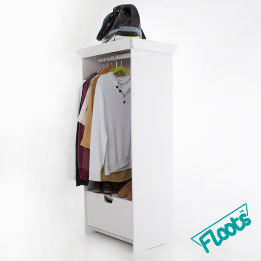 Floots Wardrobe Unit White