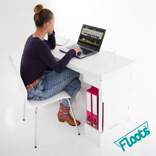 Cardboard Desk White